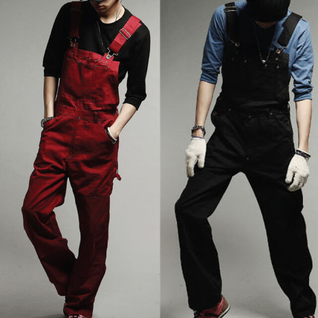 Men New bib overalls Casual Long Slim Straight pants trousers Jumpsuits  WR0013