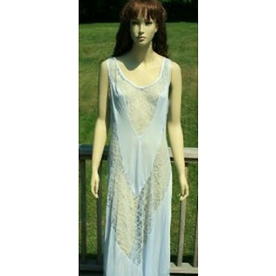 BABY BLUE LINGERIE NIGHTGOWN LONG GOWN ROYAL LARGE PLUS SIZE 1X 2X 3X 4X 40eb6d21e