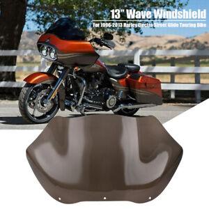"Motorcycle 8/"" Black//Smoke Windshield Fairing Windscreen For Harley Electra 96-13"