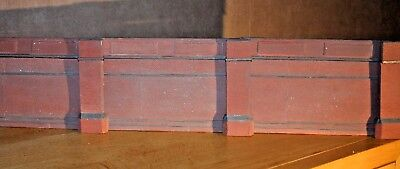 12 X Piece Detailed Model Railway Retaining Wall For Ho / Oo New Length 600mm 07