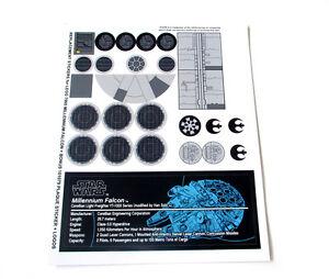 models etc toys Custom stickers for Lego 75192 10179 Millennium falcon