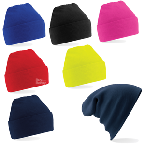 76eec449a76993 Image is loading BEECHFIELD-JUNIOR-BEANIE-HAT-DOUBLE-LAYER-KNIT-KNITTED-