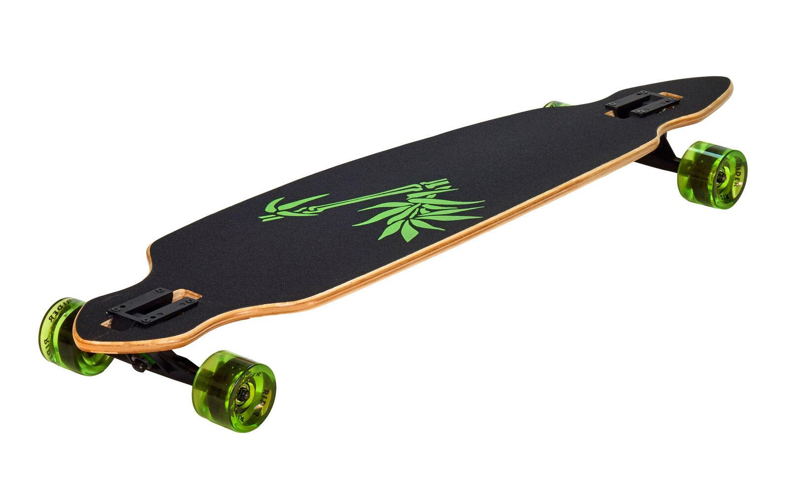 Abverkauf Longboard Komplettboard Bamboo Rider 42 Zoll 106cm Downhill bis 100 Kg