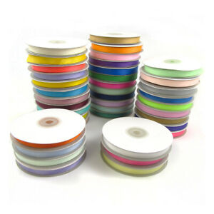 10mm-GROSGRAIN-RIBBON-25-METRE-SPOOL-39-COLOURS-WEDDING-DUMMY-CRAFT-GROSSGRAIN