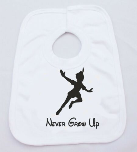Peter pan never grow up drôle humour bébé gilet ou bib