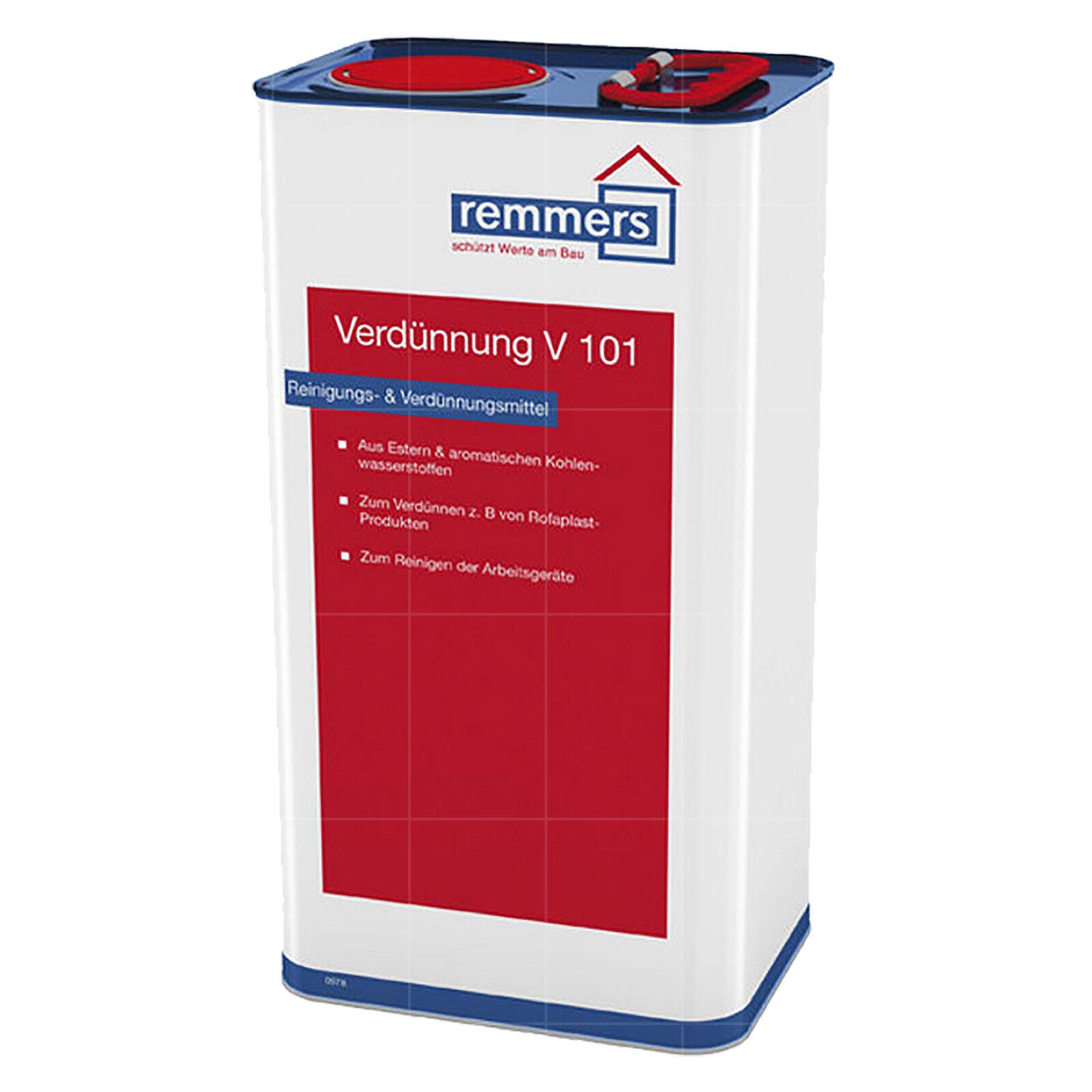 /L Remmers Verdünnung V101 Reiniger Verdünner Universalreinigungsmittel 5L