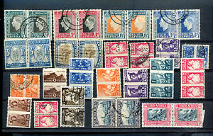 BRITISH-SOUTH-AFRICA-Lot-47-Stamps-in-pair-two-languages-MH-used-VF