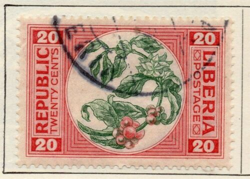 Liberia 1921 Early Issue Fine Used 20c. 148282