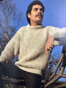51MF Knitting Pattern for Mens Chunky Fisherman's Knit ...