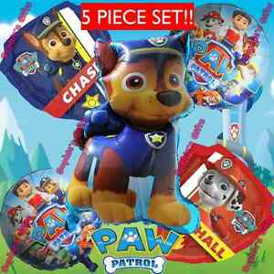 Details About Paw Patrol Decorations Favors Balloon Red Chase Marshall Balloons Supplies