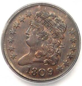 1809-6-Classic-Head-Half-Cent-1-2C-Certified-ICG-MS62-BU-UNC-1-690-Value