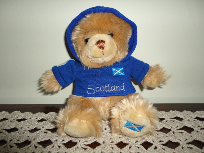 Keel Toys UK SCOTLAND Bear with Hoody 6.5 inch