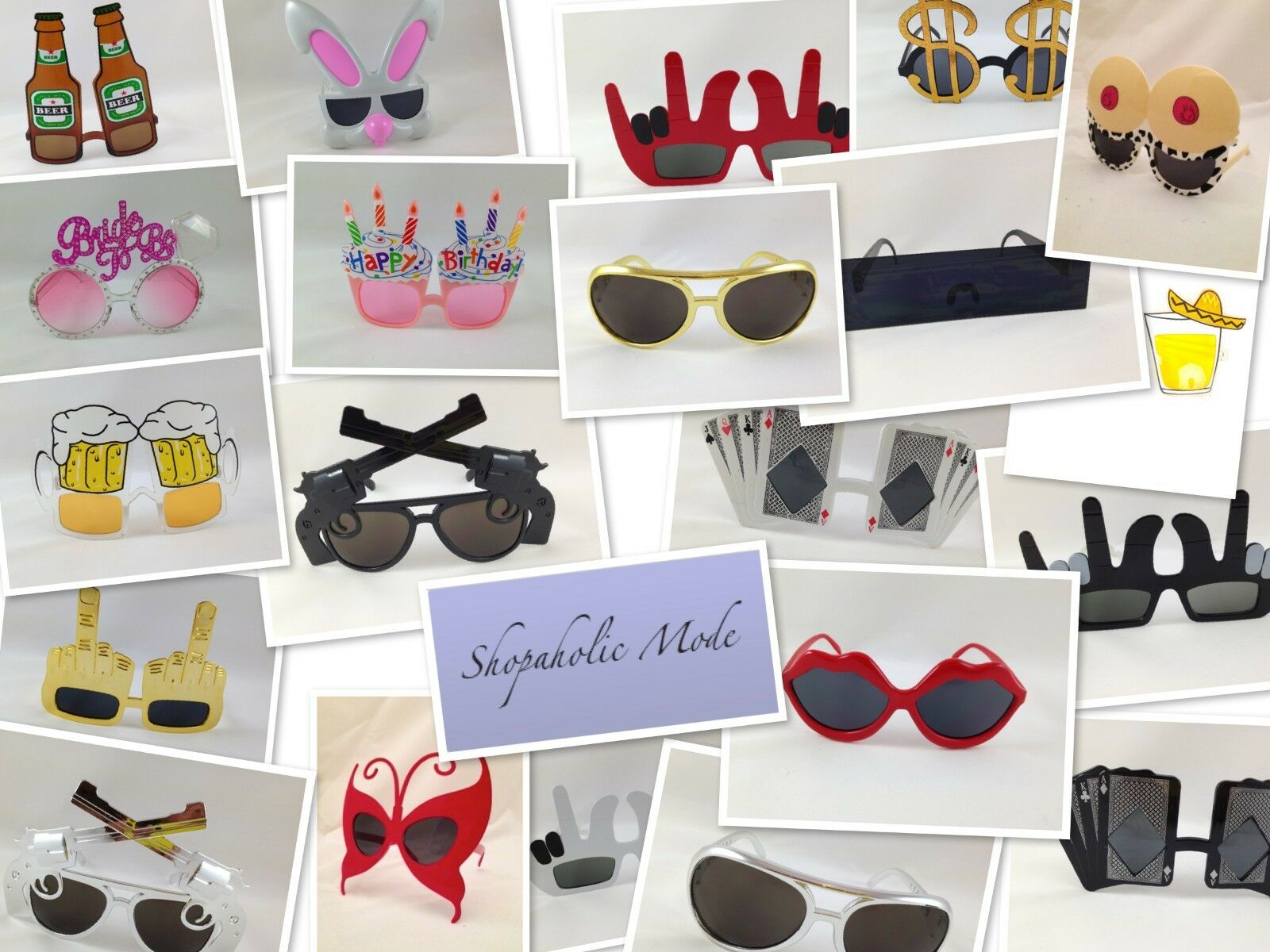 1 x Novelty Party Dress up Glasses - 20+ designs to choose from