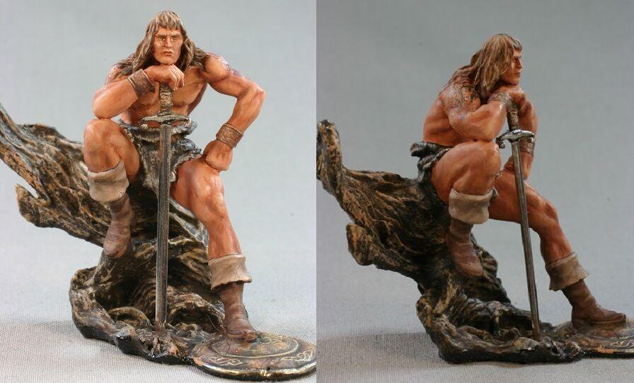 Soldati giocattolo di latta ELITE dipinse 54 mm Conan di Cimmeria