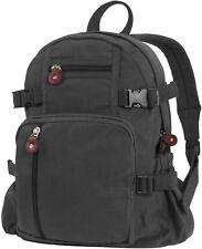 1a2bc0162d96 Rothco 9153 - Black Vintage Canvas Mini Backpack