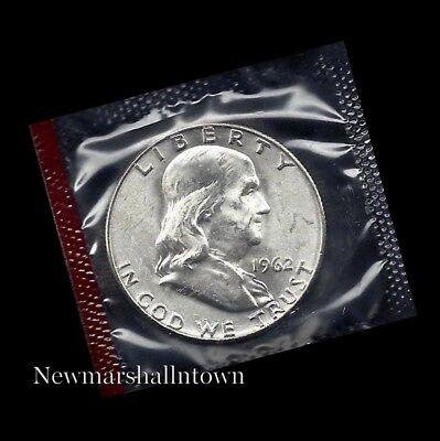 "A 1962 P Franklin Half Dollar 90/% SILVER US Mint /""Average Circulation/"""