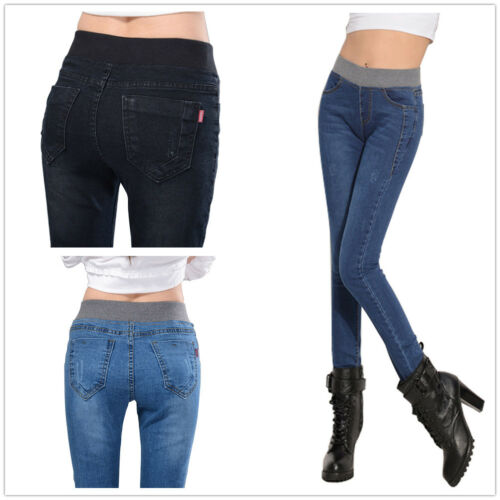 Neuf femmes//femmes taille haute fashion skinny denim leggings jeans//jeggings 6-18
