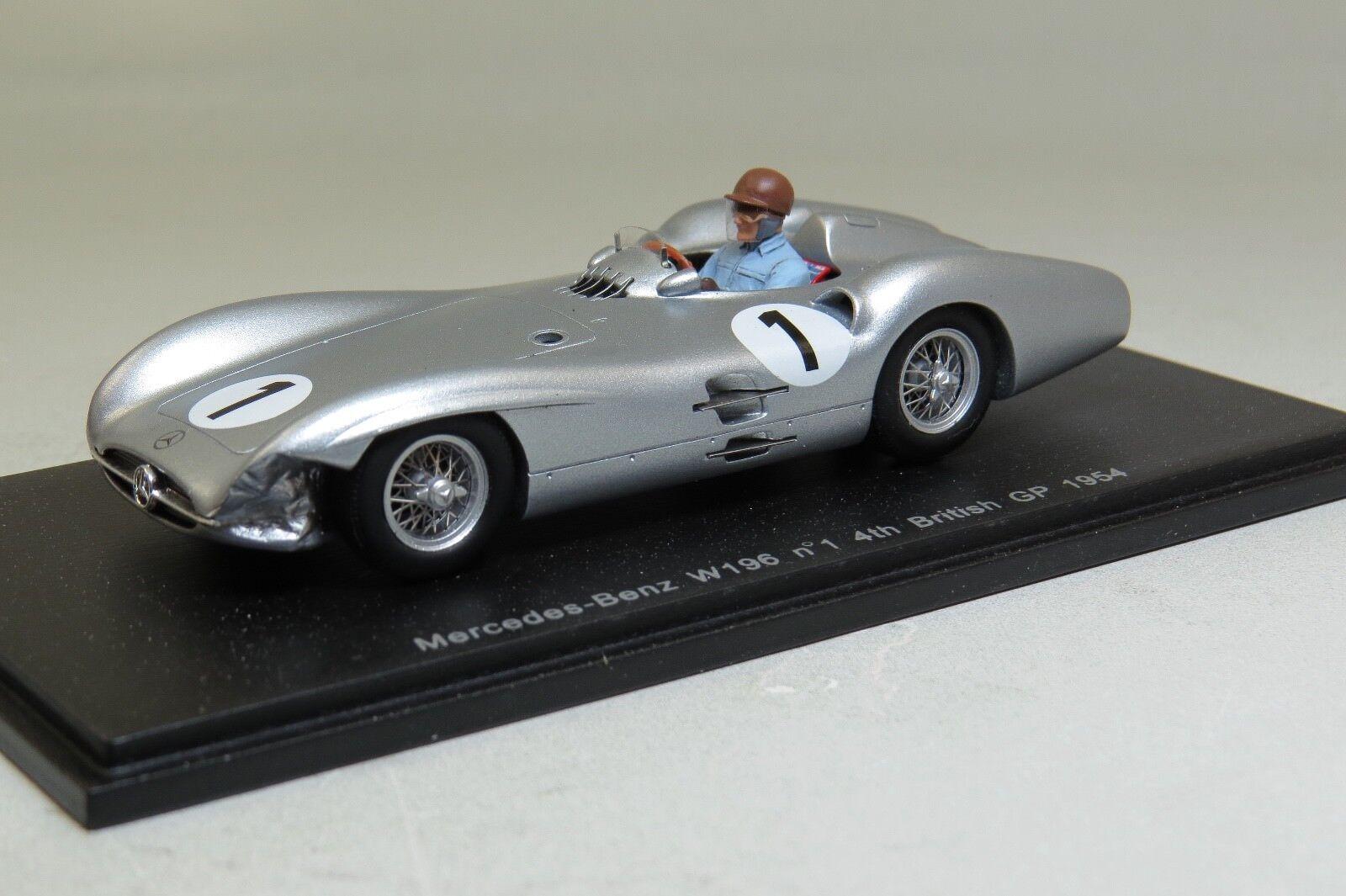Spark S1060 Mercedes-Benz W196  British GP 1954 - J M Fangio 1 43 Scale  plus abordable