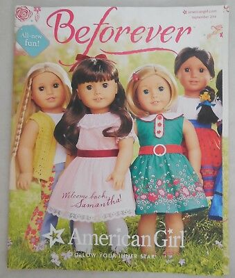 AMERICAN GIRL MARCH 2015 CATALOG ~Grace Thomas Samantha Rebecca Addy Kit Dolls