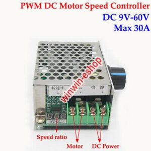 LED Display DC Motor Speed Controller Switch DC 6V~60V 12V 24V 36V 48V 30A PWM