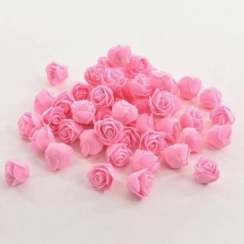 50 PCS Mini PE Foam Rose Artificial Flowers For Wedding Car Decoration DIY Pompo