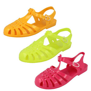 963db3130cb5 Sale Ladies Spot on 90 s retro jelly buckle sandals F0712
