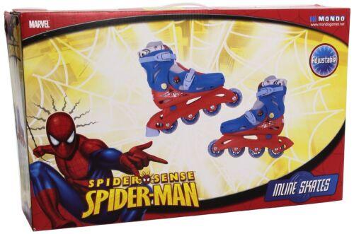 Inline Skates Mondo Spiderman Medium Size 2-4 Boys Outdoor Play Spider Man