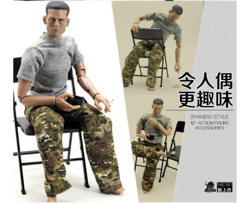 5PCS 1//6 scale PVC folding Chair for hot toys enterbay dragon joe gi did blythe