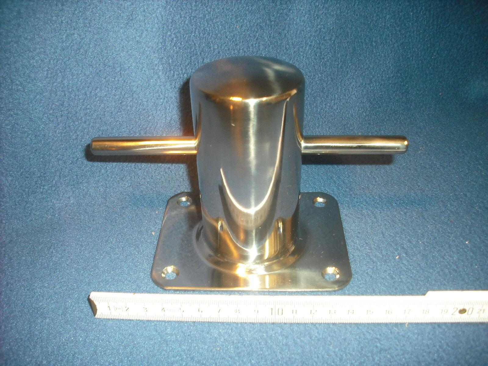 2 Stück Klampen Ercole hochglanzpoliertem Edelstahl AISI 316 Poller 40.179.60