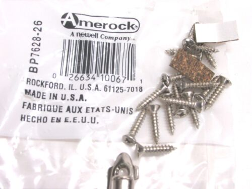 NOS BP7628-26 1-Pair AMEROCK SELF-CLOSING CABINET DOOR HINGES POLISHED CHROME
