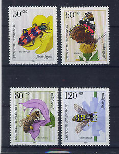 ALEMANIA-RFA-WEST-GERMANY-1984-MNH-SC-B616-B619-Insects