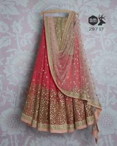 Other Women's Clothing Georgette Lehenga Choli Designer Lengha Chunri Ethnic Pink Party Wear Indian