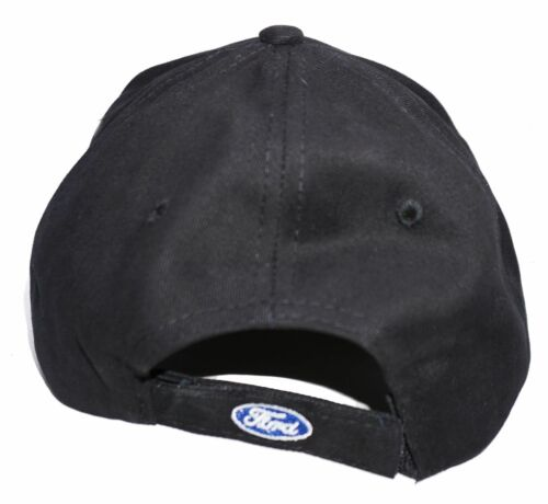 5.0 FORD MUSTANG HAT EMBROIDERED ON 4 SIDES BLACK WITH GREY TRIM