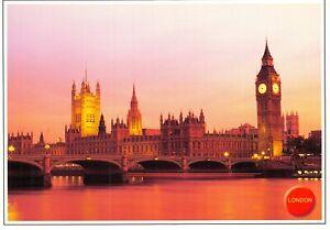 London-Postcard-Big-Ben-amp-The-Houses-of-Parliament-River-Thames-CW5