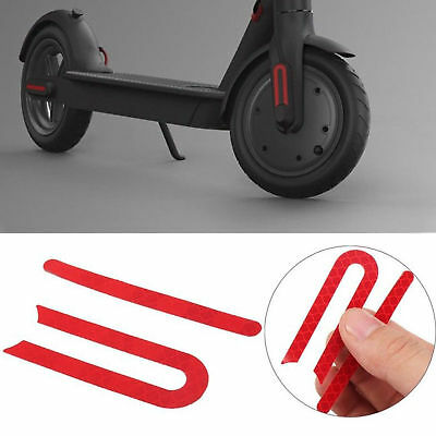 SET Front/&Rear Wheel Rubber Reflective Sticker For Xiaomi Mijia M365 Scooter UK