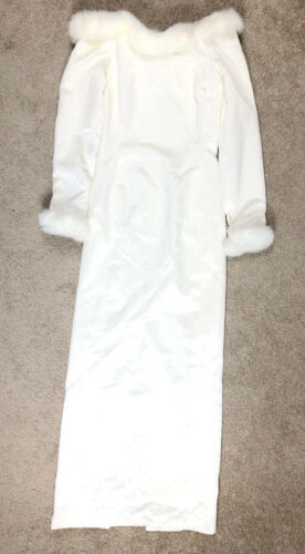 Watters & Watters 4 6 White Ivory Gown Dress Satin