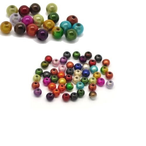 Mixed Miracle Acrylic Round Spacer Beads 6mm 450 Pack 1.2mm Hole