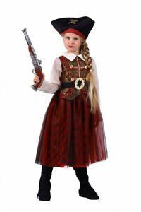 Girls Pirate Caribbean Princess Fancy Dress Party Costume Child Kids Book Week