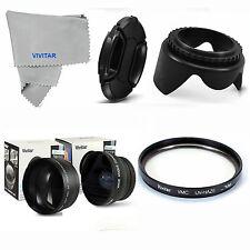 FISHEYE+TELEPHOTO+MACRO +UV FILTER + HOOD+ CAP FOR Canon EF-S 18-55 T4I T5I T3I