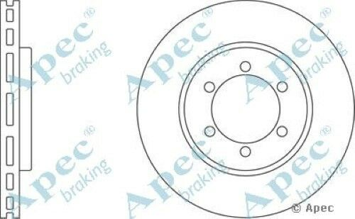 1x OE Quality Replacement Front Axle Apec Vented Brake Disc 6 Stud 278mm Single