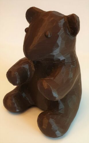 Teddy Bear Small Sized Geocache Container 9cm Ready To Place