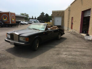 1981 ROLLS ROYCE SILVER SPUR CUSTOM CONVERTIBLE - PROJECT CAR!!!