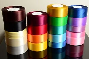Satin-Ribbon-Rolls-Reels-25mm-15mm-10mm-38mm-6mm-Widths-Double-Sided-25-Metres