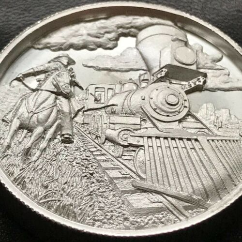 2 oz Silver Round The Beginning Lawless High Relief .999 Fine Chapter 1 Cowboy