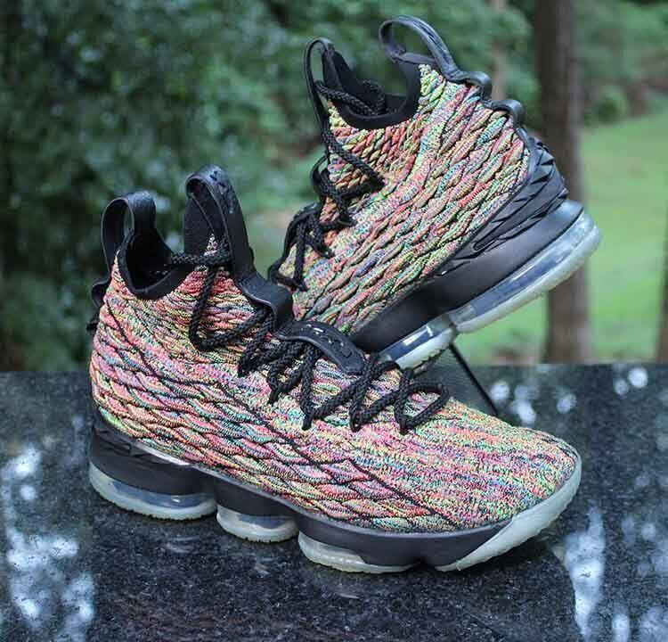 low priced 73265 9ebed Nike LeBron 15 XV Four Horsemen Men's Size 8 Multi-Color Black 897648-300