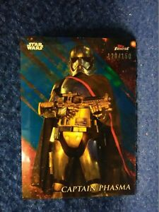2018-Topps-Star-Wars-Finest-18-Captain-Phasma-Blue-Parallel-120-150