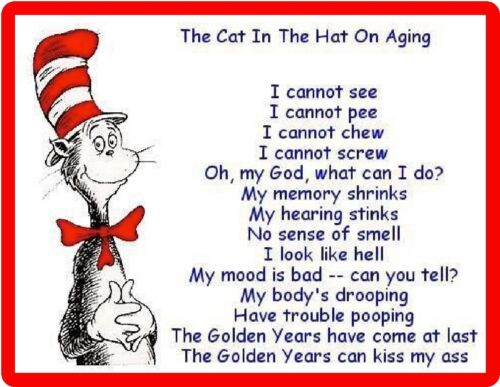 The Cat In The Hat On Aging Refrigerator Magnet