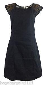 EX-WALLIS-LACE-LITTLE-BLACK-DRESS-SUMMER-EVENING-PARTY-VINTAGE-1940-1950-RETRO