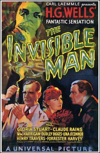 1933 The Invisible Man Affiche Du Film Réplique 13x19 Photo Imprimé