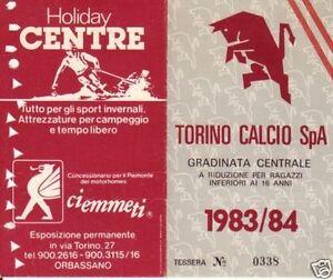 ABBONAMENTO TORINO CALCIO  1983-84